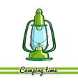 Lantern Camping Equipment vector image