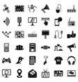 media icons set simple style vector image vector image