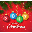 merry christmas 2017 decoration poster card new vector image