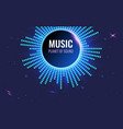 music abstract background planet sound bright vector image vector image