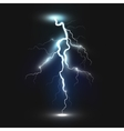 New realistic lightning icon vector image