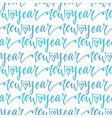 new year seamless pattern with handwritten text vector image vector image