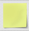 office yellow-green paper sticker with bent lower vector image vector image
