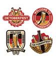 oktoberfest badge design vector image vector image