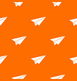 paper airplane pattern seamless vector image vector image