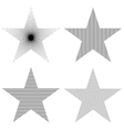 Pattern Star Set vector image