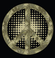 peace symbol military style vector image vector image