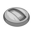 Round indoor stadium icon black monochrome style vector image vector image
