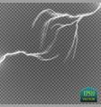 set of lightnings thunder-storm and lightnings vector image vector image