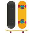 skateboard isolated on white background vector image vector image