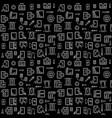smartphone repair linear dark seamless vector image vector image