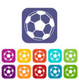 soccer ball icons set vector image vector image