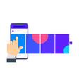 social media design concept smartphone vector image vector image