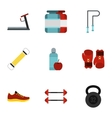 Sport icons set flat style vector image vector image