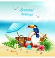 summer holidays realistic concept vector image vector image