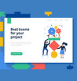 teamwork page concept vector image