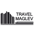 travel maglev symbol vector image