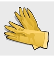 Two yellow gloves left and right isolated vector image vector image