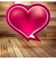 Valentines Day background with heart EPS 10 vector image vector image