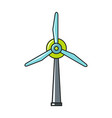 windmil icon on white background vector image vector image