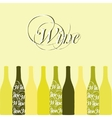 wine or vinegar bottles vector image vector image