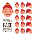 woman emotions handsome face female cute vector image