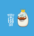 world egg day concept funky vector image vector image