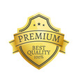 100 premium quality choice golden label isolated vector image vector image