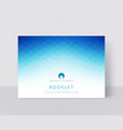 a blue brochure template modern vector image vector image