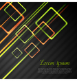 Abstract tech background with squares vector image vector image