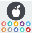Apple flat icon vector image vector image