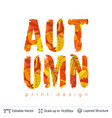 autumn fall bright orange leaves text vector image vector image