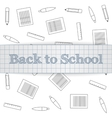Back to School realistic paper Label vector image vector image