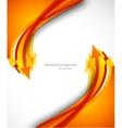 Background with orange arrows vector image vector image