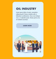 banner business meeting oil industry vector image vector image