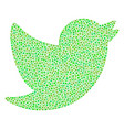 bird composition of dots vector image vector image