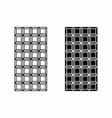 black and white chocolate bars vector image