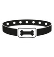 black and white dog collar silhouette vector image vector image