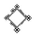 black and white minimal dot badge decoration frame vector image vector image
