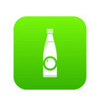 bottle icon green vector image vector image