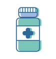 bottle pills treatment and healthy medication vector image vector image