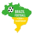 brazil map in colors flag vector image vector image