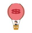 Businessman on hot air balloon icon vector image
