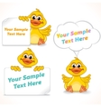 Cartoon Character Duck Showing Blank Banners vector image vector image