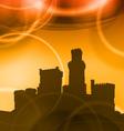 castel sunset vector image