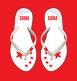 china flip flop sandals vector image vector image