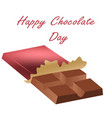 chocolate day july 11th holiday postcard vector image vector image