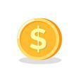 circle metal money golden coin dollar vector image