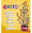 Coffee theme Background vector image vector image