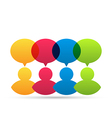 Colorful people icons with dialog speech bubbles vector image vector image